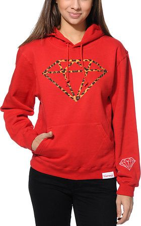 Diamond Supply Co. Leopard Rock Red Pullover Hoodie at Zumiez : PDP