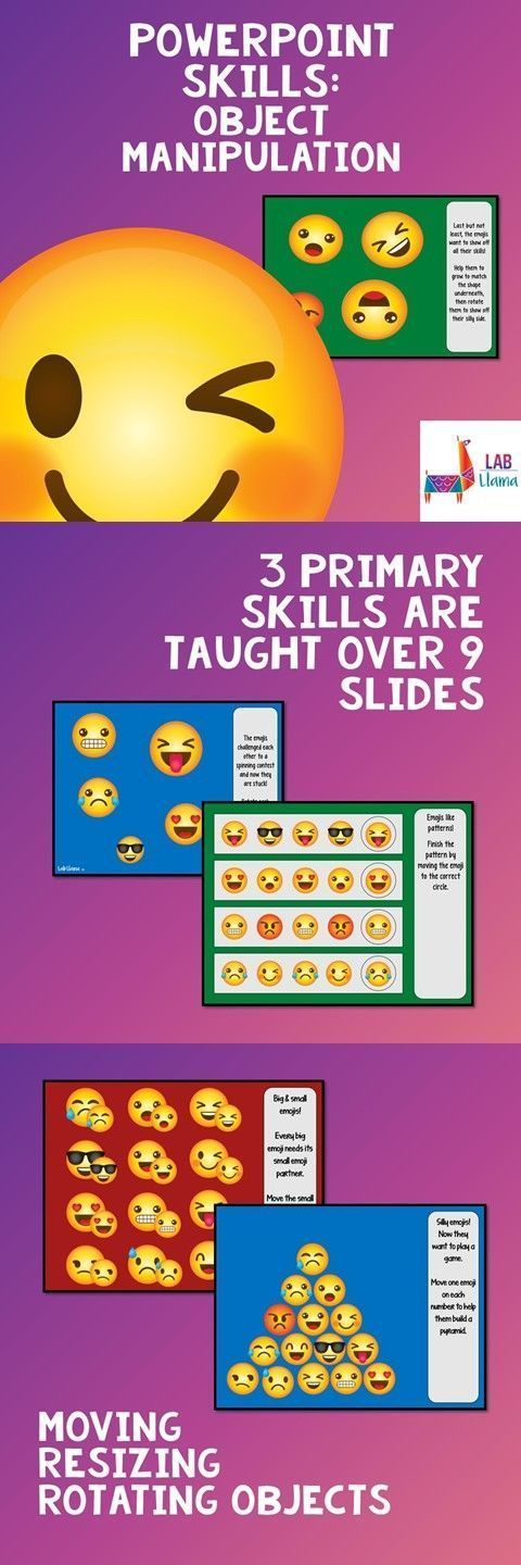 Computer lab lesson alert! Emoji friends help students to learn how to rotate and stretch images.