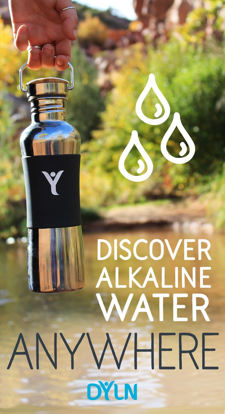 Reduce plastic waste and create alkaline antioxidant water whenever, wherever with the DYLN Living Water Bottle. Click through to learn more >>
