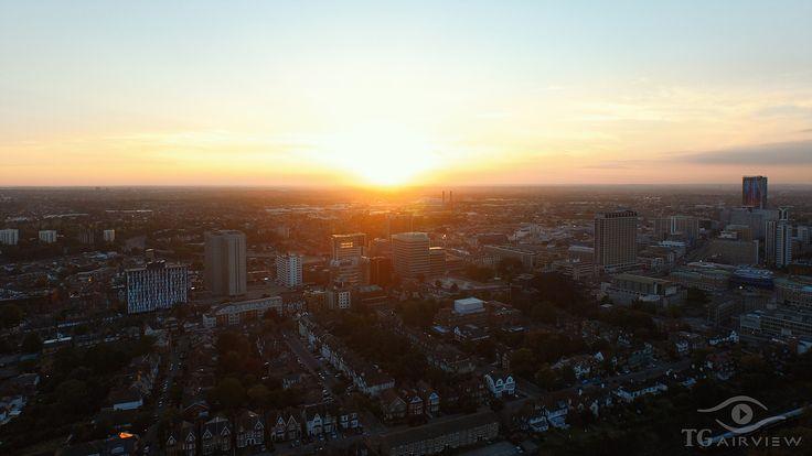 Sunset over Croydon (UK)
