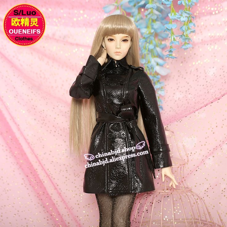 35.00$  Watch now - http://alioh1.shopchina.info/1/go.php?t=32814600484 - Oueneifs bjd sd clothes 1/3 body Fashion Long Leather Jacket Leather Coat Female Leather Jackets Coats include Shiny Stocking 35.00$ #buymethat