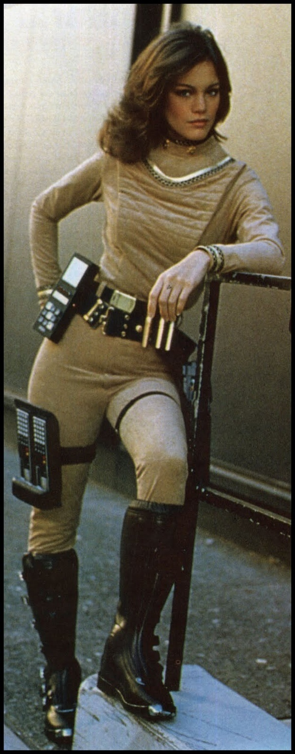 Amazing how far the believability of Tech has come.  That ridiculousness on her leg.  lol!  :  Maren Jensen :: Battlestar Galactica 1979