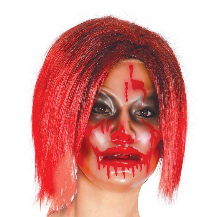 Careta de Zombi Mujer Transparente #máscaras #antifaces