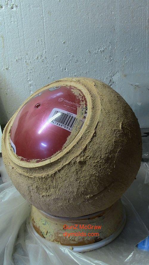 10 inch concrete sphere.