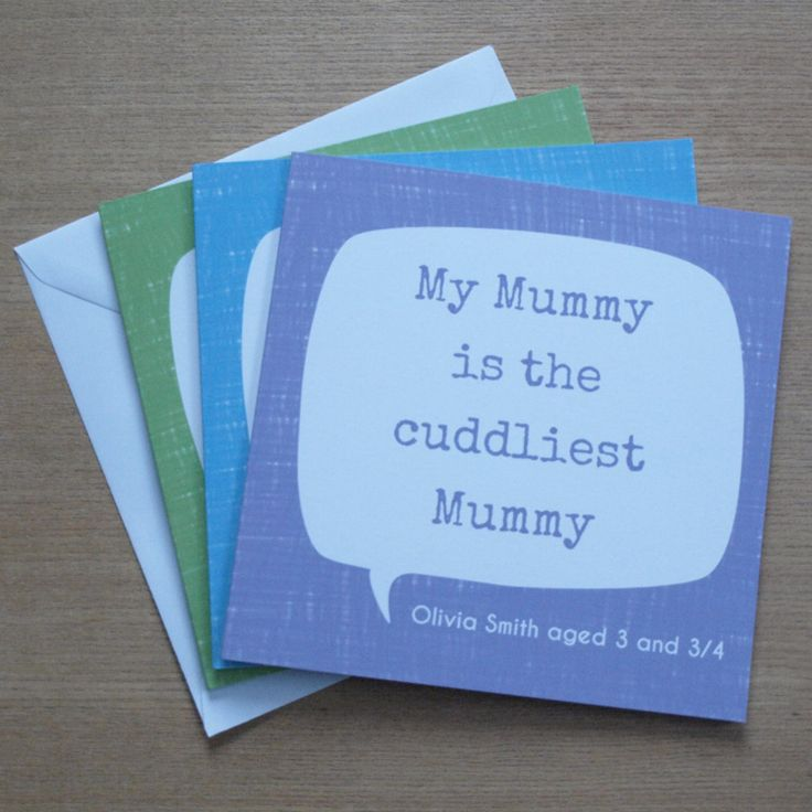 Personalised Quote Mother's Day Card by Doodlebump
