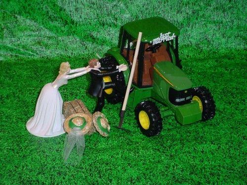 Unique John Deere Wedding Cake Topper With John Deere Tractor ...