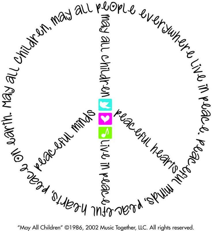 UN International Peace Day is Saturday, September 21st. Join us for a Peace Day Sing Along!