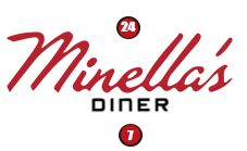 Minella's Diner has been serving award winning food and drink on the Main Line for over 40 years, 24/7.