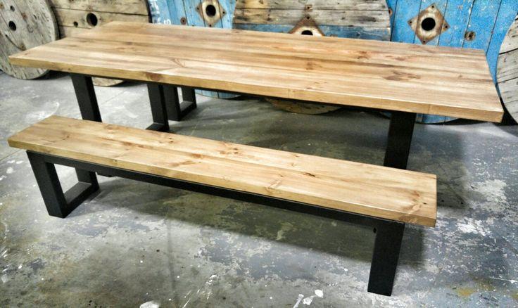 Steel Leg Outdoor Table