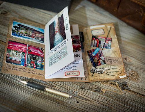 couverture en carton et rabat final - Carnet de voyage