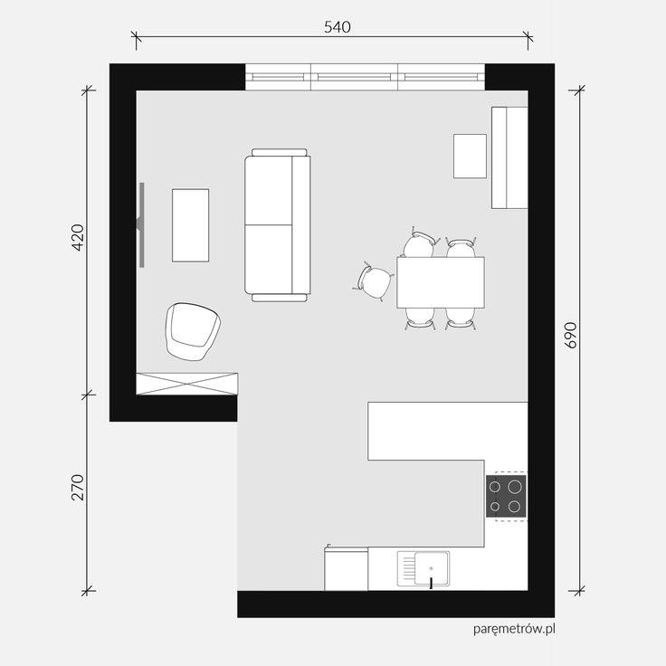 rodzinny pokój dzienny / mieszkanie / interior / open kitchen / living room
