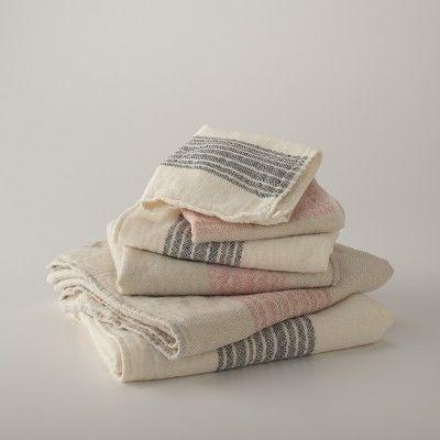 Center Stripe Towels   Pink   Bath Linens   Bed   Bath. 1000  ideas about Striped Towels on Pinterest   Orange bathroom