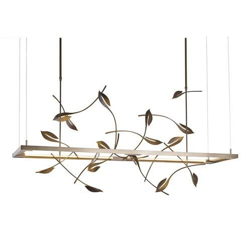 Hubbardton Forge Twilight: Hubbardton Forge Autumn Dark Smoke 16-Inch LED Pendant In