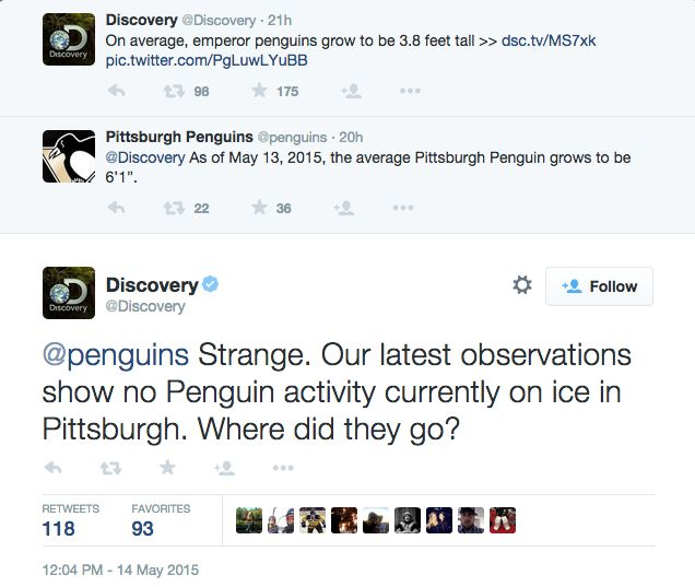 Bwahahaha! I just had to pin this because it's awesome. Oh, snap! WTG Discovery! > Burn   #PittsburghPenguins #NHL #hockey