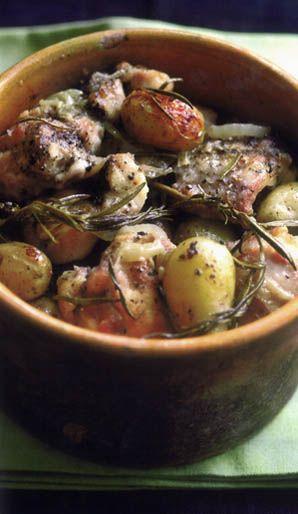 Coniglio Arrosto con Patate - Roast Rabbit with Potatoes .