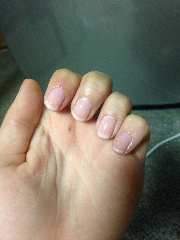 Natural French manicure look