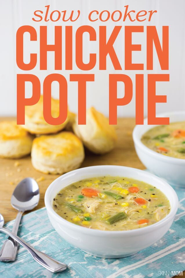 Chicken pot pies, Pot pies and Slow cooker chicken on Pinterest