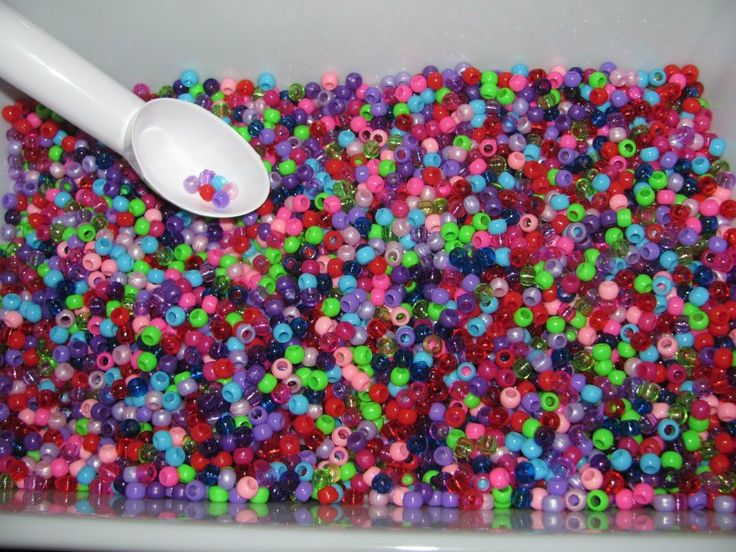 colourful pony beads tray (created by me)