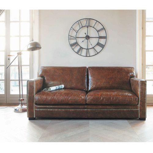 les 25 meilleures id es de la cat gorie canap s en cuir marron sur pinterest meubles de salon. Black Bedroom Furniture Sets. Home Design Ideas