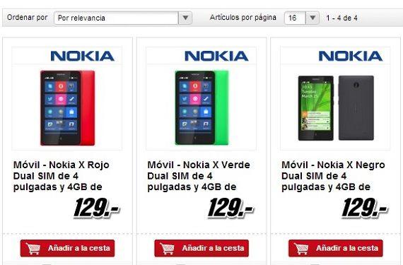 El Nokia X ya se puede adquirir en España por 129 euros