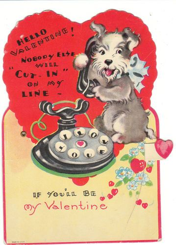 valentine card dog