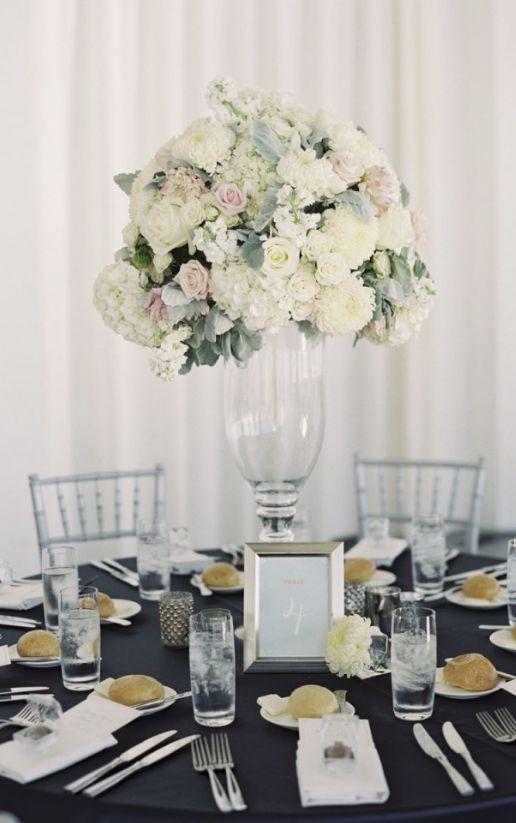 Featured Photographer: Caroline Tran Photography; Wedding reception centerpiece idea.