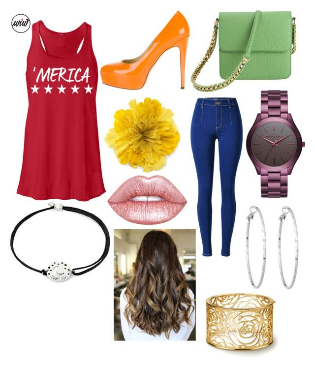 """""""What's Ure Fav Color???"""" by ashleyannmcd on Polyvore featuring Brian Atwood, Gucci, STELLA McCARTNEY, Michael Kors, Lime Crime, Lydell NYC and Alex and Ani"""