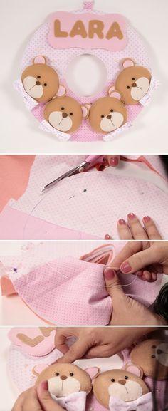 Aprenda a fazer essa linda guirlanda em feltro. Passo a passo rápido e fácil.