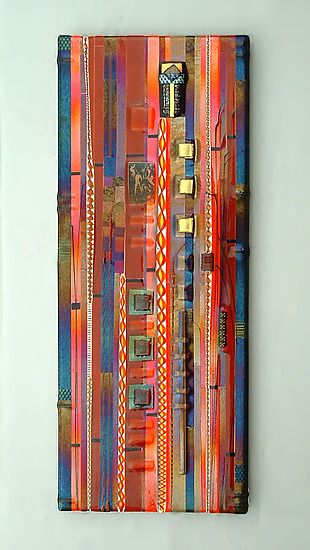 Sunset Coral Wall Panel: Mark Ditzler: Art Glass Wall Art - Artful Home