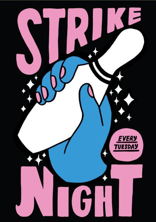 Strike Night by Kate Prior #illustration #typography
