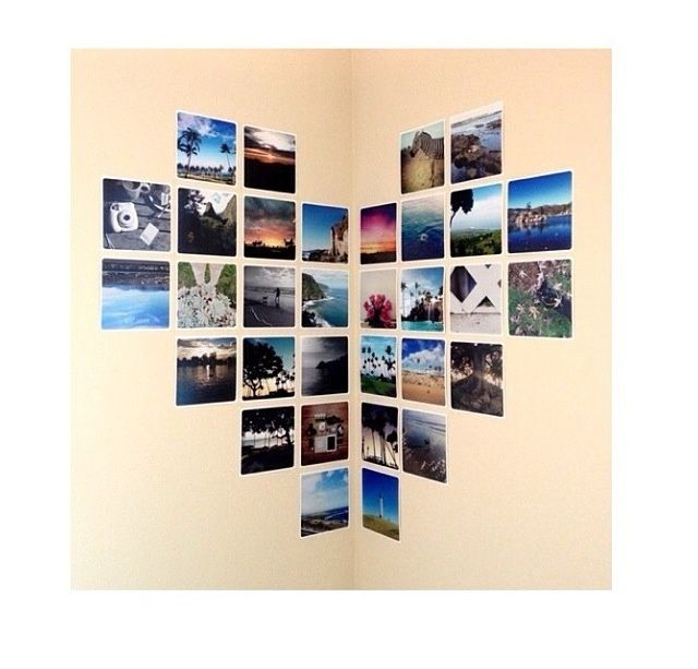 21 Dorm Room DIY Projects to Customize Your Space | StyleCasterFotos en forma de corazón