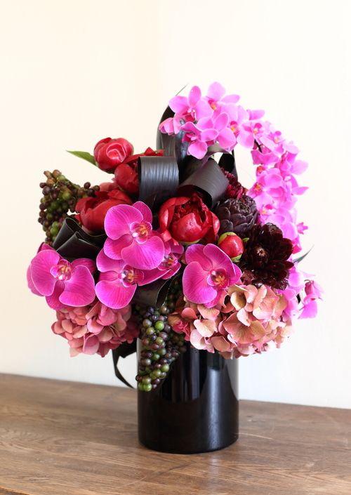 Gorgeous floral arrangement by sachi rose orchids
