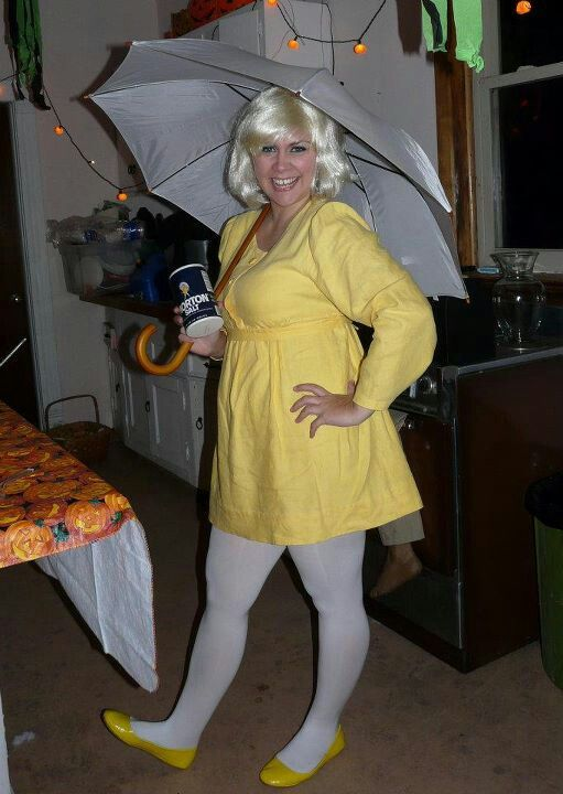 Pinning because i had so much fun with this diy Morton Salt girl costume. Definitely want to wear it again!