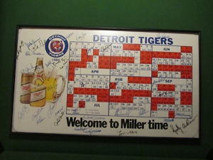 1984 Detroit Tiger Schedule and 38 Original Signatures from 1984 - Too Cool!
