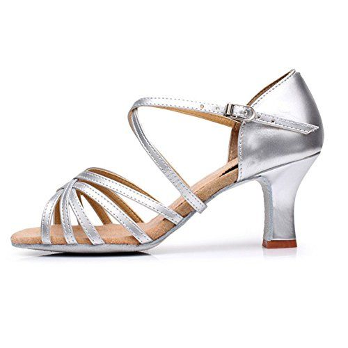 Tacón puntera abierta Criss Cross baile negro zapatos mujer personalizar zapatos de salón de baile 6MaG7