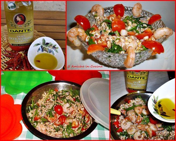 Insalata di Farro, Gamberi, Pomodori e Rucola | 2 Amiche in Cucina