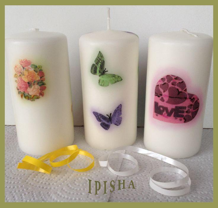 Романтические свечи-Romantic candles.