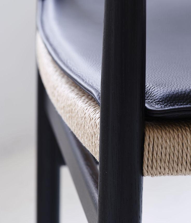 BM2 Chair by dk3. #Børge #Mogensen #BM2 #Chair #dk3 #Blackstained #Oak #Cushion #Danish #Design #Furniture #Classic www.dk3.dk