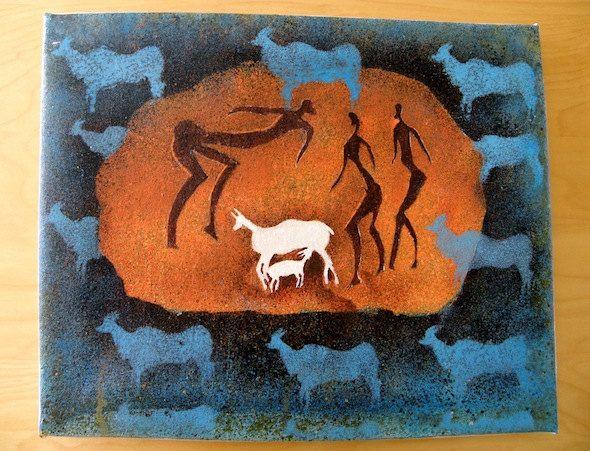 Buckstalkers San Art - Acrylic Painting Artwork by Hadeda on Etsy