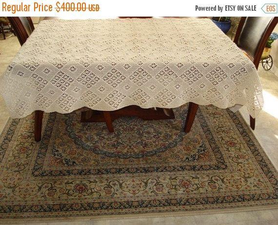 Handmade Crochet tablecloth Doily Runner Crochet by ufer on Etsy