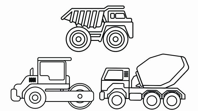 Tonka Truck Coloring Pages Dengan Gambar