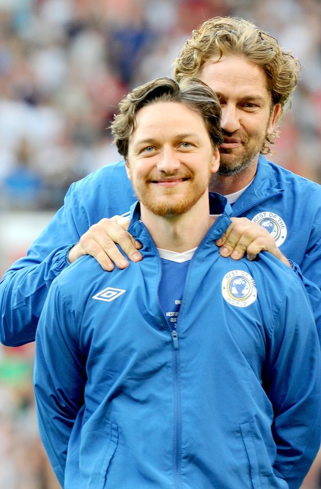James McAvoy and Gerard Butler
