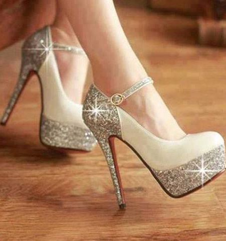 The shiny stars aren't actually part of the shoes, but they are cute.