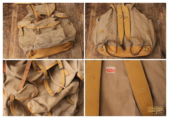 Vintage Lafuma backpack made in France  (c)http://www.le-magasin-general.com/