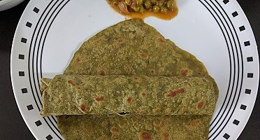 This is one variety of chapathi packed with nutrients of spinach. Ingredients Whole wheat flour – 1 cup Spinach – 1/2 cup packed Salt – as required Sugar – a pinch Water – as required Method Blanche spinach with a pinch of sugar. ( Add spinach leaves in boiling water for two minutes) Strain it, … … Continue reading →