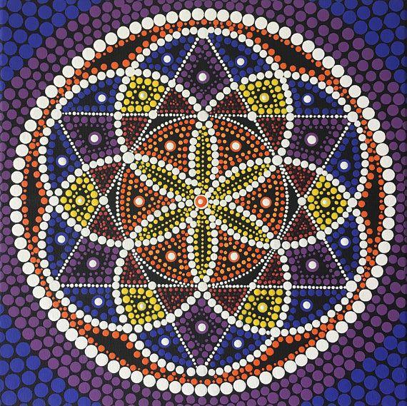 Dot Mandala Mandala Painting Wall Art Boho Mandala Art
