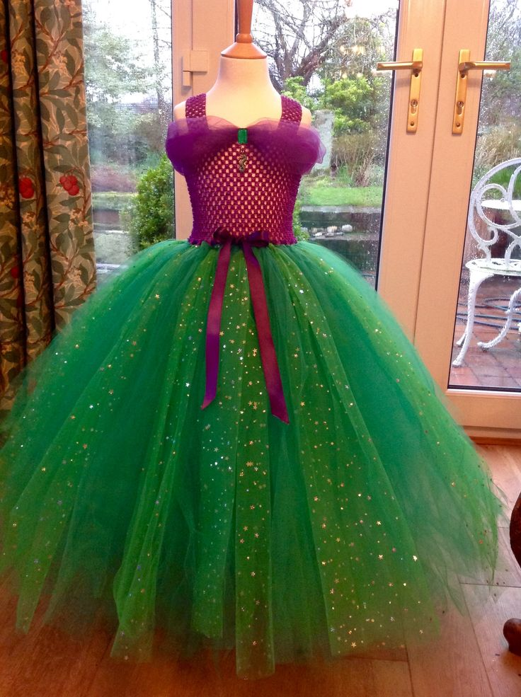Princess Ariel inspired tutu dress ready for a trip to the theatre to see The Little Mermaid