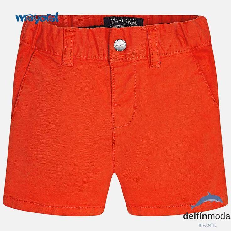 Pantalón corto  chino para bebe MAYORAL basico color lichi