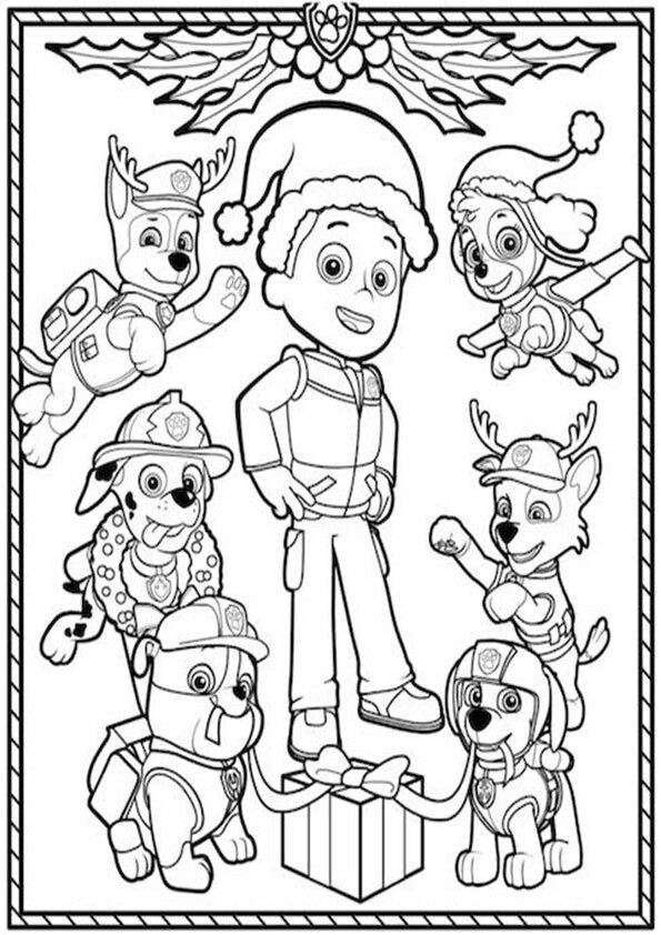 26 best Paw Patrol, patrulla canina para colorear images on ...
