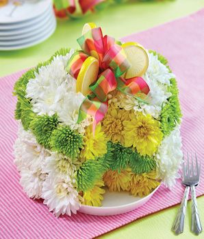 What a great centerpiece for a shower or spring brunch.